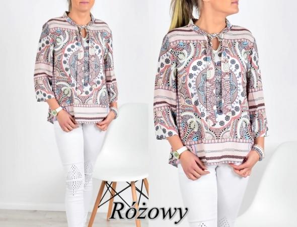 Bluzki Bluzeczka rozowa azteckie wzory