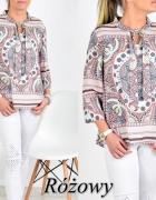 Bluzeczka rozowa azteckie wzory...