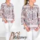 Bluzeczka rozowa azteckie wzory