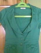 Śliczny zielony Żakiecik Orsay...