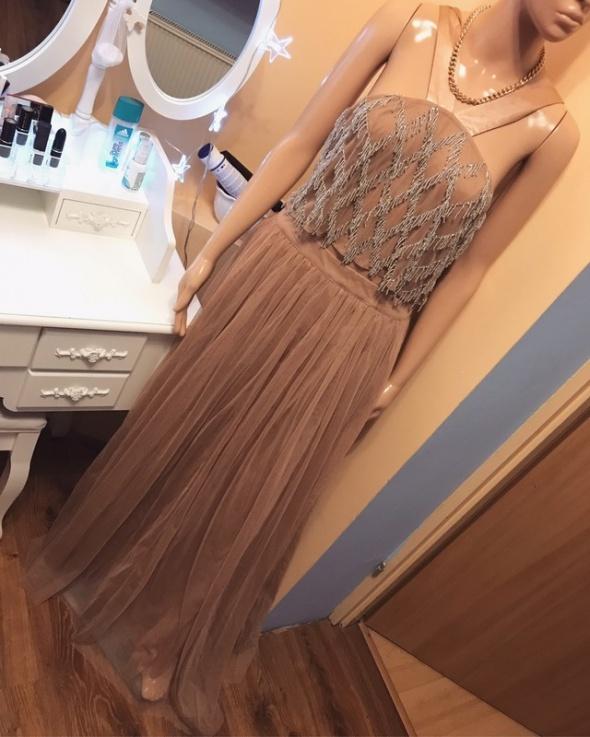Tiulowa sukienka maxi Asos L