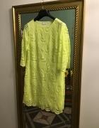 Wallis sukienka neonowa koronkowa sukienka...