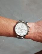 Zegarek na bransolecie kolor bransolety srebrny tarcza biała...