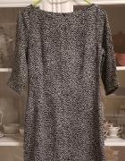 Sukienka bialo czarna