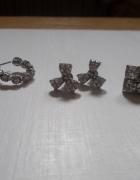 zestaw 3 par kolczyków wkrętów