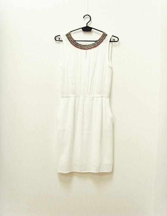 Mango sukienka zwiewna letnia biała grecka 34 XS...