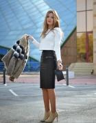 ZARA faux leather skórzana spódnica...