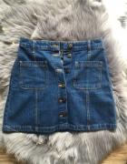 jeansowa spódniczka z guzikami h&m...