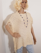 Beżowa kremowa bluzka kamizelka sweter marki Zara...