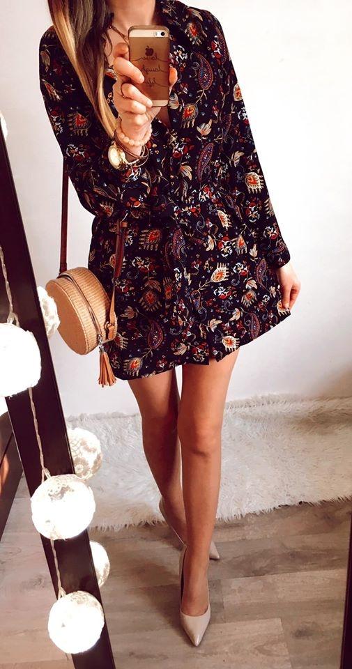 Sukienka Damska wzorzysta M
