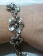 bransoleta srebrne kwiaty duże...