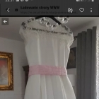 Piękna sukienka ecru z koronką jak nowa komunia