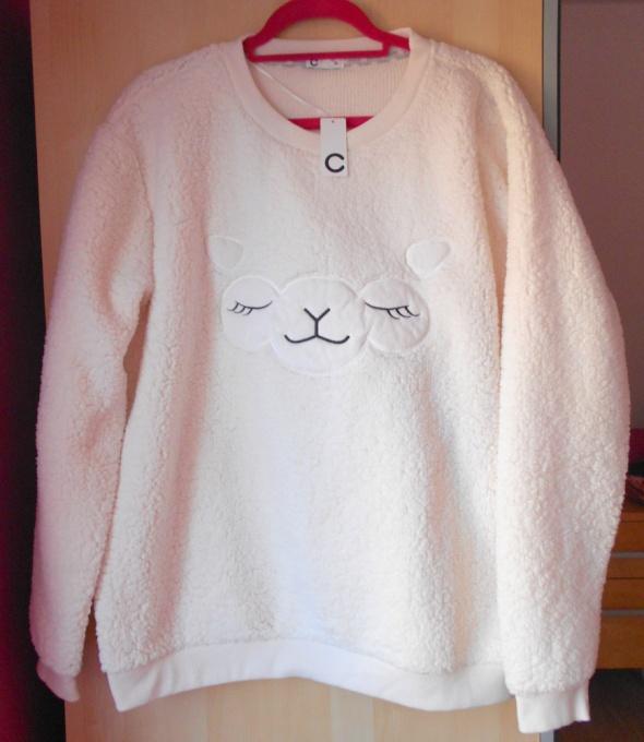 Cubus nowa bluza owieczka pluszowa kremowa XL...