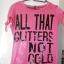 różowy Tshirt S only