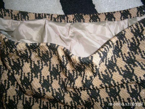 sexi włoska spódnica czarnozłota M