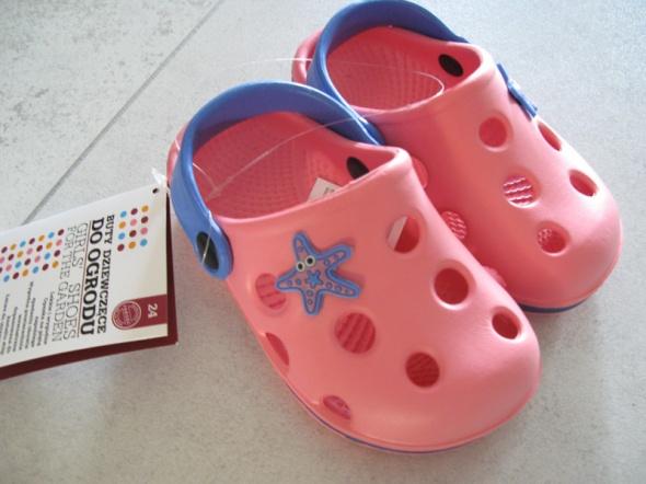 MUST HAVE różowe buty do ogrodu dla dziewczynki roz 24