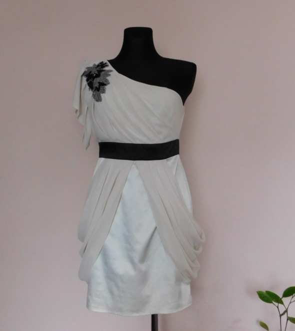 Lipsy London sukienka ecru nude 38 40...