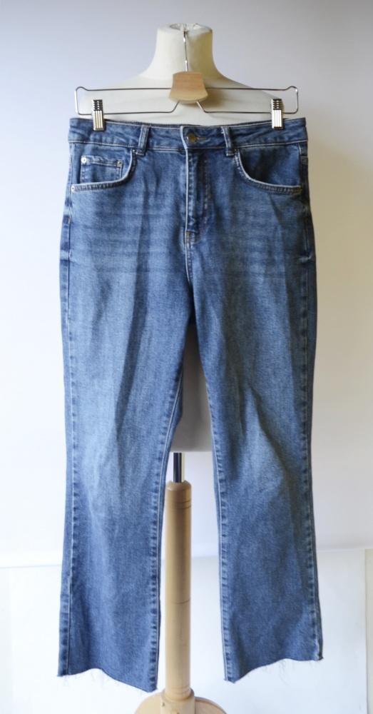Spodnie L 40 Gina Tricot Dzinsowe Postrzępione Nogawki Proste