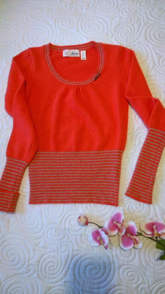 sweterek z angory z mitenkami S