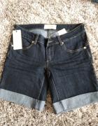 Krótkie spodeni jeansowe szorty rozmiar M przed kolano...