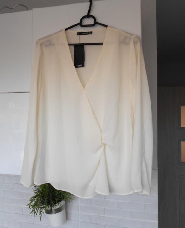 Mango nowa kremowa bluzka satynowa elegancka