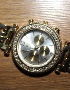 zegarek złoty cyrkonie bransoleta duży elegancki...