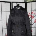 kurtka puchówka czarna pikowana z kapturem gruba ciepła zimowa