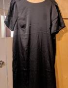 Czarna sukienka błyszcząca brokat...