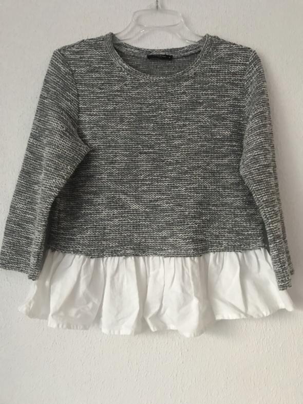 Swetry Sweter Reserved 36 S szary z białą koszulą