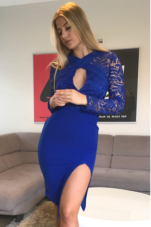 Sukienka Love Triangle Lover Lace Cobalt 36