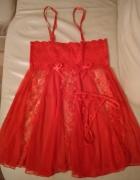 Romantyczny seksowny czerwony komplet...