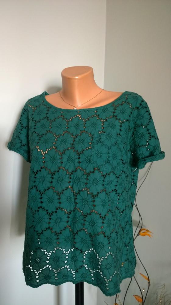 bluzka z bawełnianej koronki