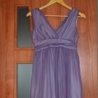 Sukienka wrzosowa XS S nowa