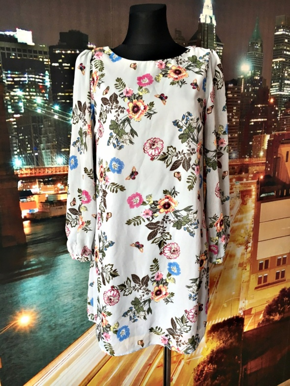 atmosphere sukienka mgiełka kwiaty motyle nowa hit 38