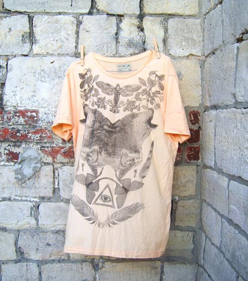 Koszulka z nadrukiemWilkirozmiar L