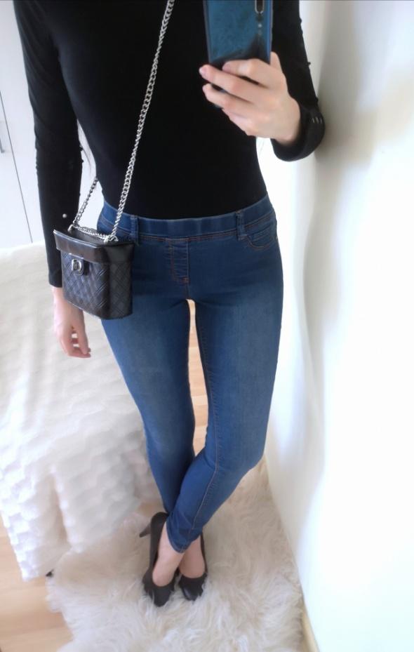 New Yorker Jeansy Spodnie damskie na gumce L 40