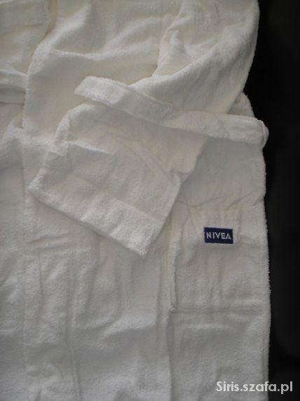 Nowy biały szlafrok frotte z logo Nivea