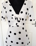 Biała sukienka w grochy sukienka kropki Primark...
