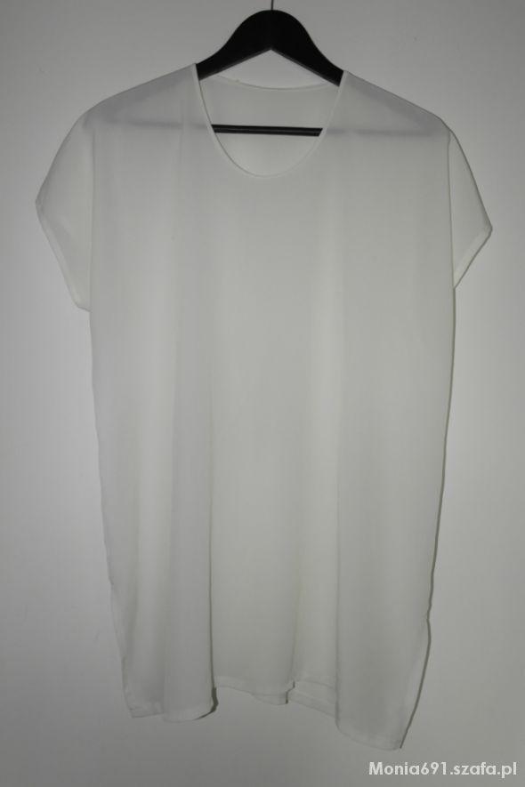 biała klasyczna bluzka top r 46
