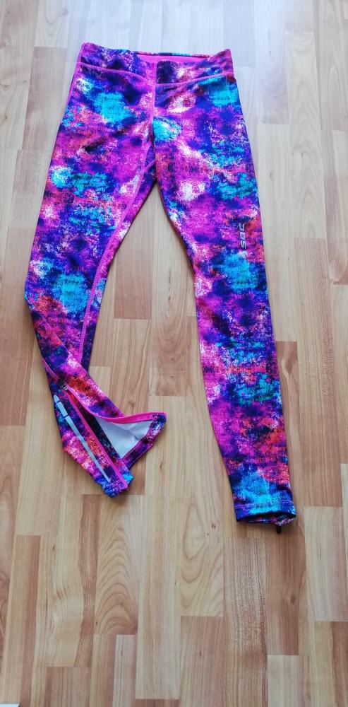 Kolorowe legginsy sportowe XS 34 NOWE