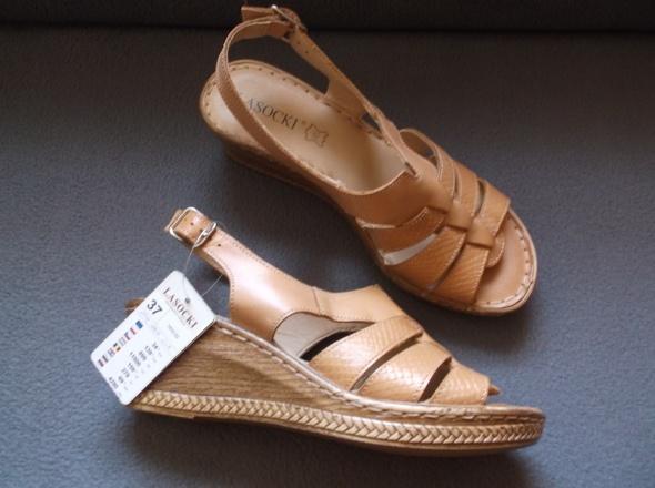 Sandały Lasocki 37 skóra nowe...