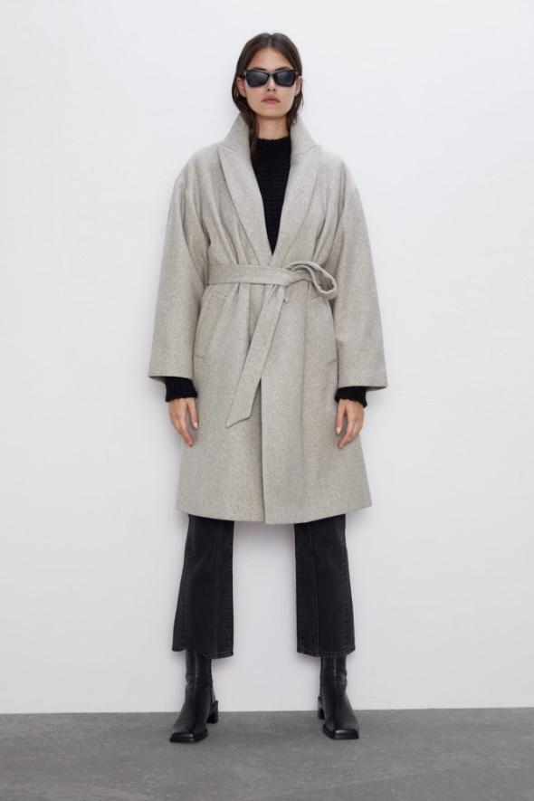 Nowy płaszcz ZARA beżowy rozmiar XS