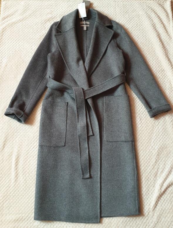 Płaszcz z paskiem wełna kaszmir H&M Premium rozmiar XXS XS...