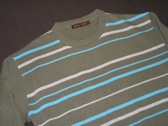 NOWY męski sweterek w pasy...
