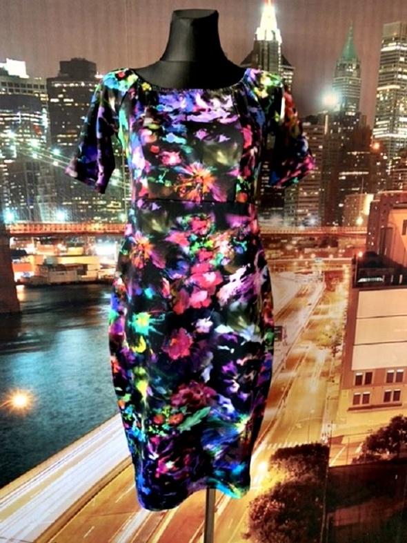definitions sukienka midi ołówkowa kwiaty wzór 3d nowa 40 L