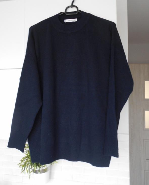 Mango nowy sweter granatowy oversize minimalizm...
