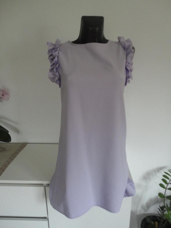 Fiołkowa sukienka s m