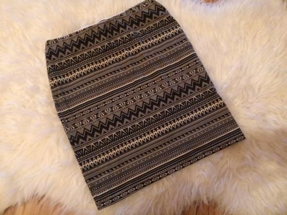 Tally weijl aztecka aztec wzór wzory spódnica spódniczka tuba midi