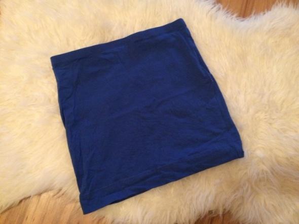 H&M granatowa spódniczka tuba indygo mini spódnica krótka