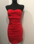 Asos czerwona sukienka gorsetowa XS na S...